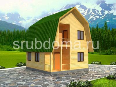 Дом 6х6 с ломаной крышей