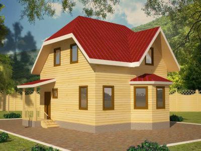 Двухэтажный дом из бруса 7х7