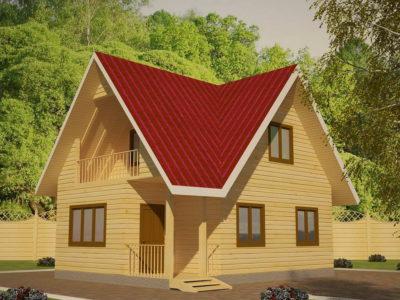 Дом из бруса 6х8 с хорошей планировкой