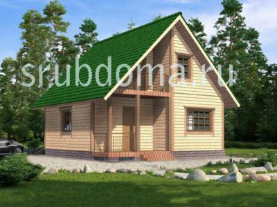 Проект дома 7 на 8 с мансардой