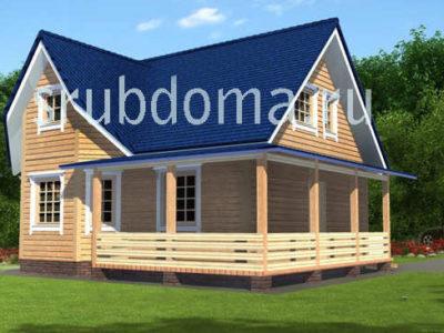 Проект одноэтажного дома 7 на 8
