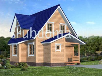 Проект дома 8х7 с мансардой