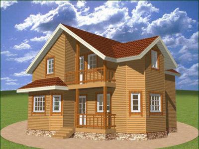 Проект двухэтажного дома 8 на 10