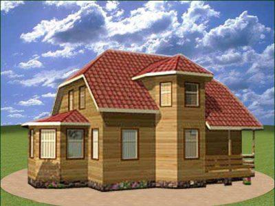 Проект двухэтажного дома 9 на 11