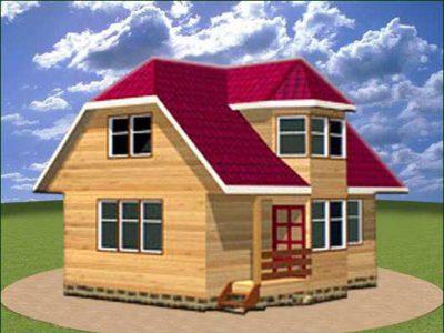 Дом из бруса 6 на 9 с мансардой