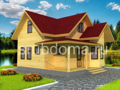 Дом из бруса 8х8 с хорошей планировкой