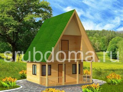 Садовый дом 6х6 с мансардой