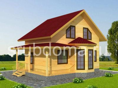 Проект дачного дома 7х9