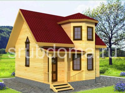 Дачный дом 7х8 из бруса