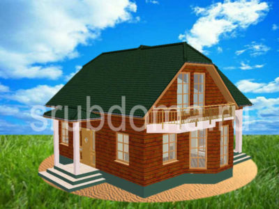 Проект деревянного дома 9 на 9