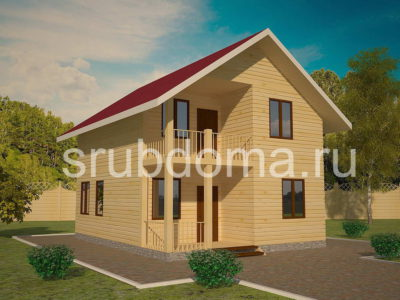 Проект дома 7х9 с террасой и балконом