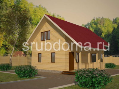 Проект брусового дома 8х9