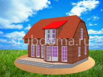 Недорогой дом 8х10 из бруса