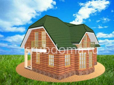 Дом 7,5х8 из бруса