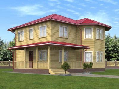 Проект двухэтажного дома 9 на 10