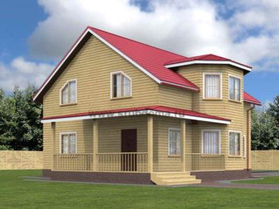 Проект дома с мансардой 9 на 10