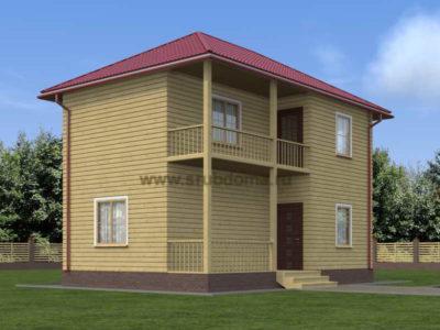 Двухэтажный дом из бруса 6х9