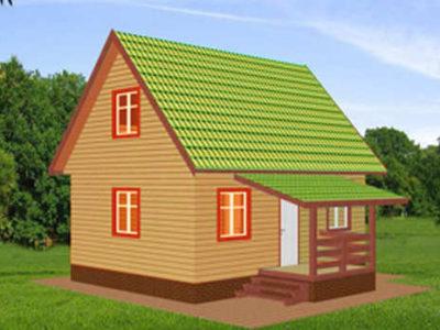 Дачный дом из бруса 6х8