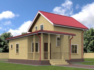 Дом из бруса 6х10 с террасой