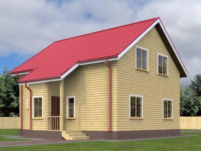 Дом из бруса 9х9 с террасой