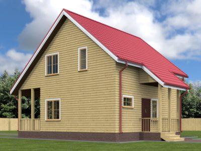 Дом из бруса 7х8 с отличной планировкой