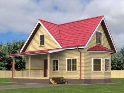 Дом из бруса 6х9 с террасой