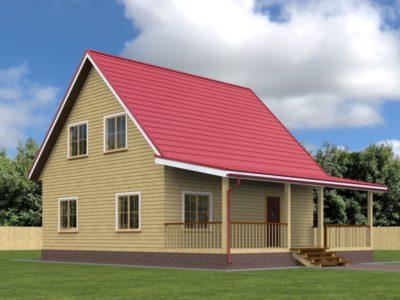 Проект дома 8х11 с мансардой