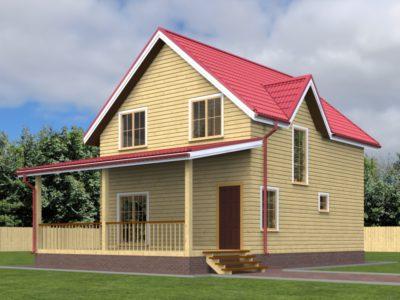 Проект двухэтажного дома 7х11