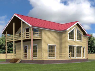 Проект двухэтажного дома 9х12