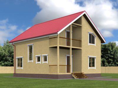 Деревянный дом 8х9 из бруса