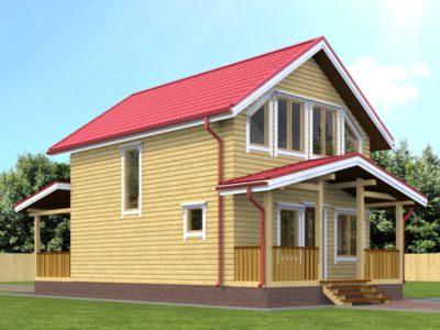 Деревянный дом из бруса 6х8
