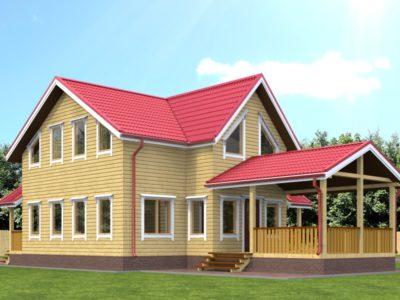 Проект дома из бруса 7,5х9