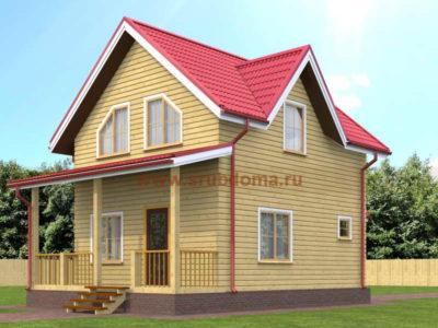 Полутораэтажный дом из бруса 6х8,5