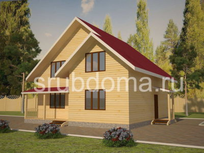 Проект двухэтажного дома 10 на 10
