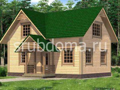 Одноэтажный дом из бруса 6х9 с мансардой