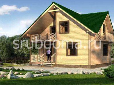 Дом из профилированного бруса 8х8