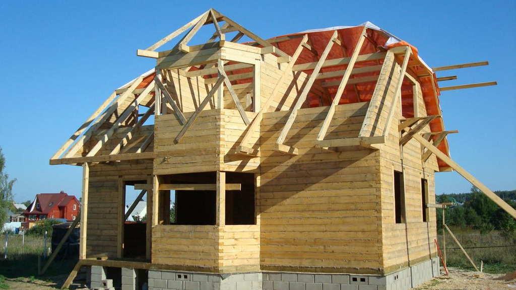 Строим деревянный дом из бруса своими руками 37