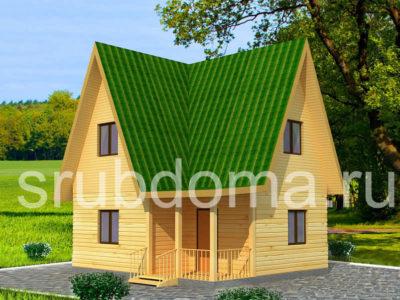 Дом из бруса 6х7 с мансардой