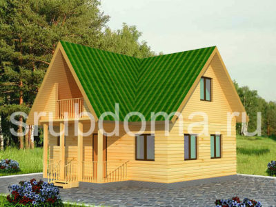 Дачный дом из бруса 8х8