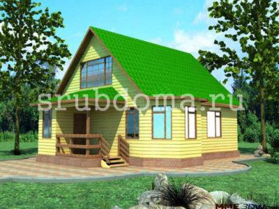 Проект одноэтажного дома 8 на 10