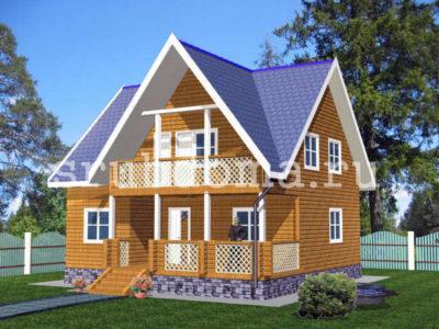 Двухэтажный дом из бруса 9х9