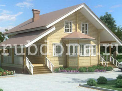 Дом из бруса 11х8
