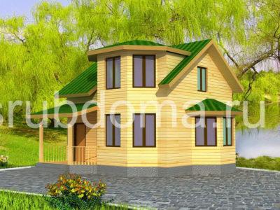 Проект дома 7х8 с эркером