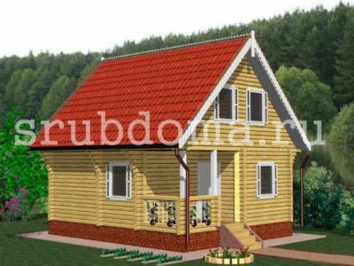 Недорогой дом из бруса 6х7