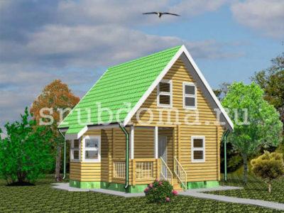Проект дома 6х7 из бруса