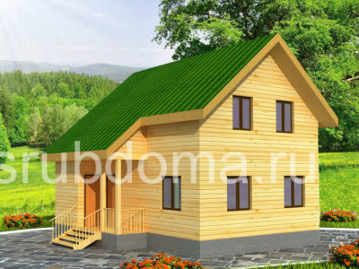 Проект двухэтажного дома 7х8